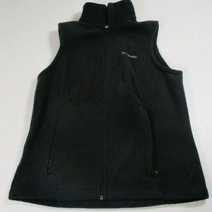 Columbia Womens Sz M Black Fleece Vest Full Zip